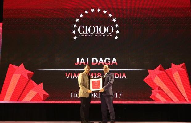 The Digital Innovators: Jai Daga, Head IT Infrastructure and Operations, Viacom18 Media receives the CIO100 Award for 2017