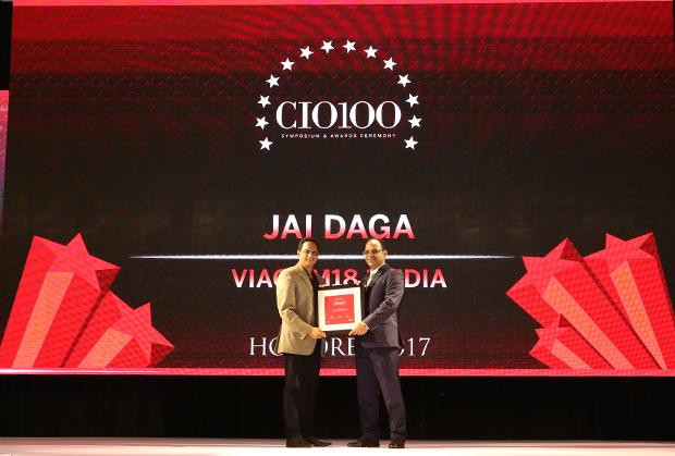The Digital Innovators: Jai Daga, Head IT Infrastructure and Operations, Viacom18 Media receives the CIO100 Award for 2017