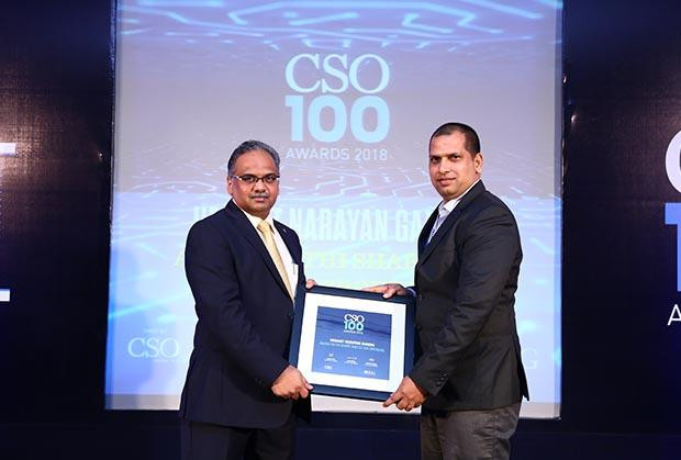 Hemant Narayan Gandhi, AVP – IT & Security, Anand Rathi Share and Stock Brokers receives the CSO100 Award for 2018