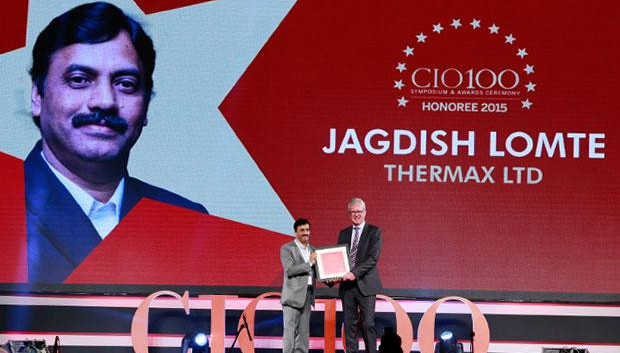 The Versatile 100: Jagdish Lomte, VP and CIO-BTG at Thermax receives the CIO100 Award for 2015