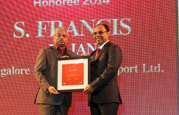 The Dynamic 100: S Francis Rajan, VP - ICT of Bangalore International Airport (BIAL) receives the CIO100 Award for 2014.