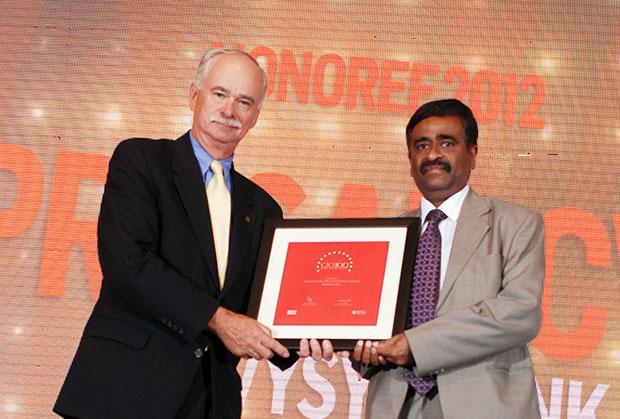 The Resilient 100: C V G Prasad, CIO, ING Vysya Bank receives CIO100 Award for 2012