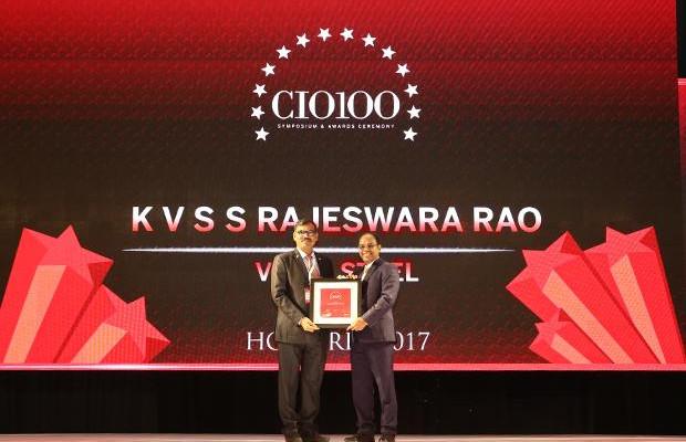 The Digital Innovators: K V S S Rajeswara Rao, GM - IT at Visakhapatnam Steel Plant, RINL receives the CIO100 Award for 2017