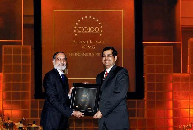 The Ingenious 100: Suresh Kumar, Director IT- KPMG India receives the CIO100 Award for 2009