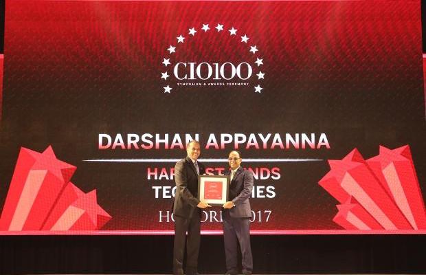 The Digital Innovators: Darshan Appayanna, CIO at Happiest Minds Technologies receives the CIO100 Award for 2017