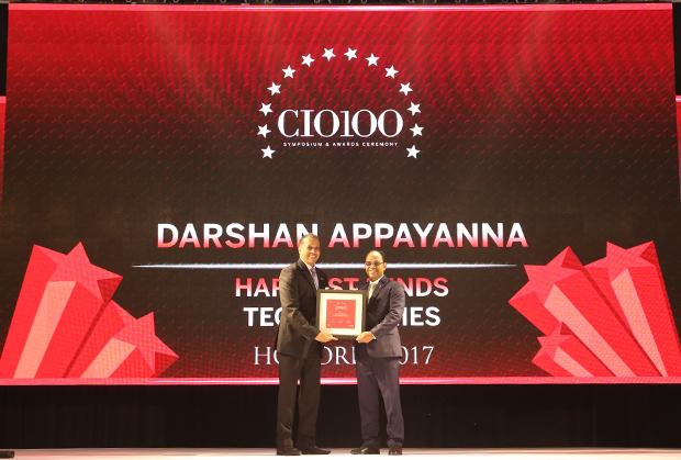 The Digital Innovators: Darshan Appayanna, CIO at Happiest Minds Technologies receives the CIO100 Award for 2017