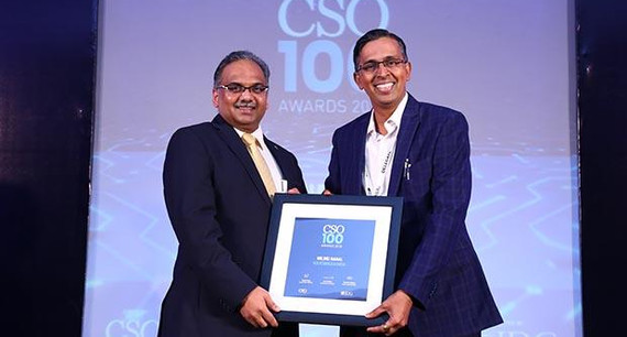 Milind Nanal, CISO at Volkswagen India receives the CSO100 Award for 2018