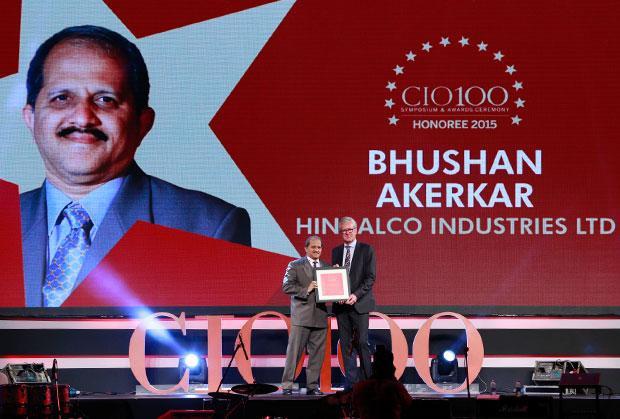 The Versatile 100: Bhushan Akerkar, CIO of Hindalco Industries receives the CIO100 Award for 2015