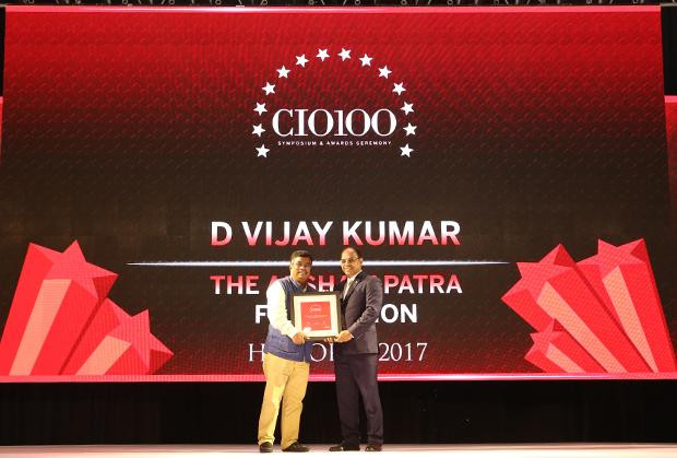 The Digital Innovators: D Vijay Kumar, Director - IT at Akshaya Patra Foundation receives the CIO100 Award for 2017
