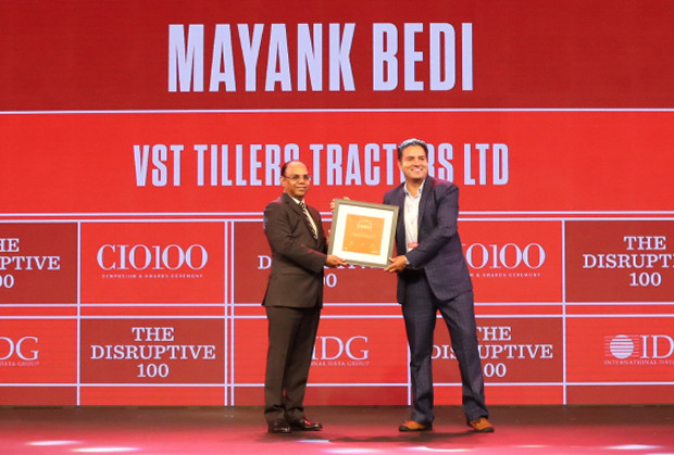 The Disruptive 100: Mayank Bedi, Head-IT, V.S.T.Tillers Tractors receives the CIO100 Award for 2019