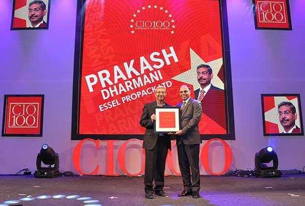 The Transformative 100: Prakash Dharmani, Global CIO of Essel Propack receives the CIO100 Award for 2016
