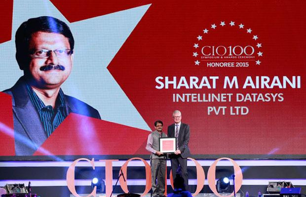 The Versatile 100: Sharat M Airani, Director- IT and SICO of Intellinet Data Systems receives the CIO100 Award for 2015