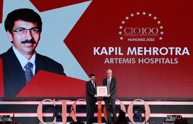 The Versatile 100: Kapil Mehrotra, Head IT, Artemis Hospital receives the CIO100 Award for 2015