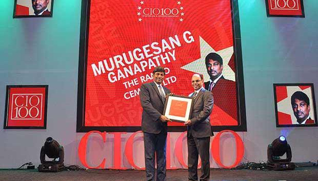 The Transformative 100: Murugesan G, Senior GM-IT at Ramco Cements receives the CIO100 Award for 2016