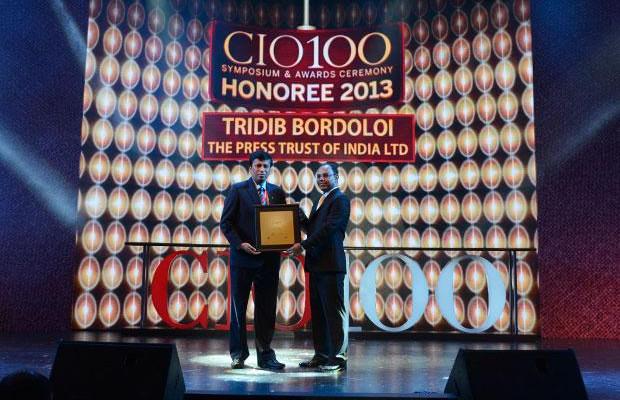 The Astute 100: Tridib Bordoloi, CTO at The Press Trust of India (PTI) receives the CIO100 Award for 2013