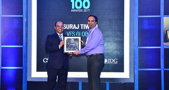 Suraj Tiwari, Chief Information Security Officer, VFS Global receives the CSO100 Award for 2017.
