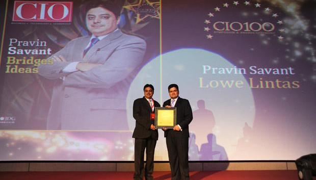 The Creative 100: Pravin Savant, CTO of Lowe Lintas India receives the CIO100 Award for 2011