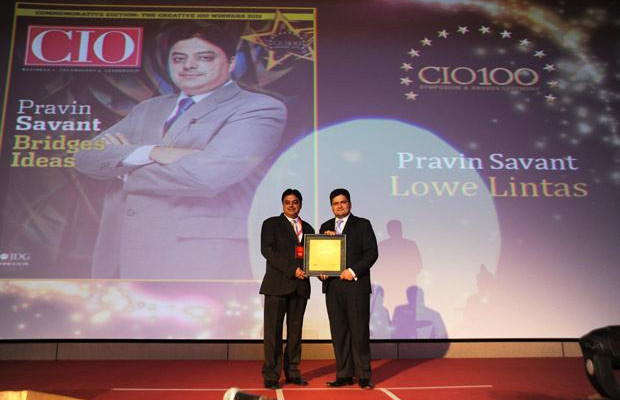 The Creative 100: Pravin Savant, CTO of Lowe Lintas India receives the CIO100 Award for 2011
