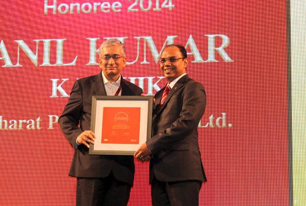 The Dynamic 100: Anil Kumar Kaushik, GM-Infrastructure and Services, Bharat Petroleum (BPCL) receives the CIO100 Award for 2014
