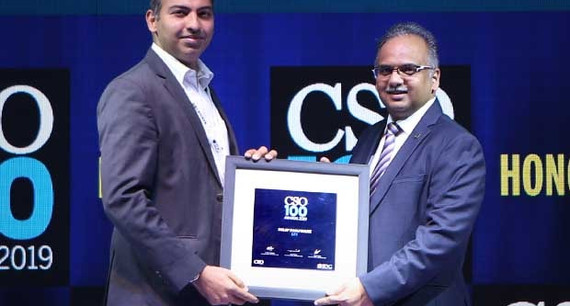Dilip Panjwani, CISO, CDPO & IT Controler at LTI receives the CSO100 Award for 2019