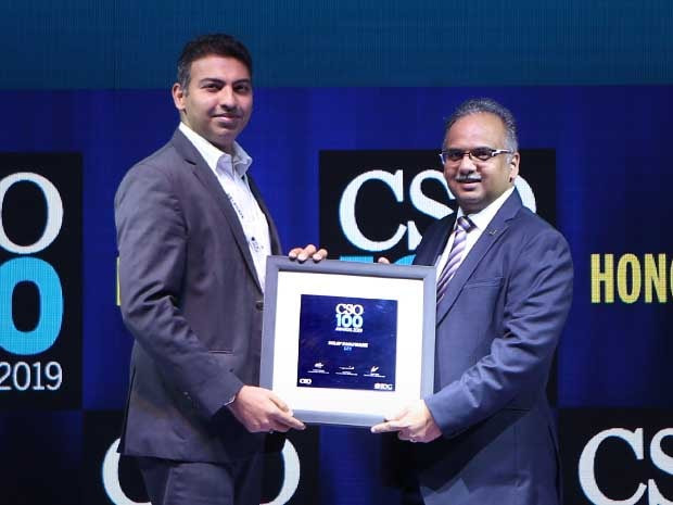 Dilip Panjwani, CISO, CDPO & IT Controler at LTI receives the CSO100 Award for 2019
