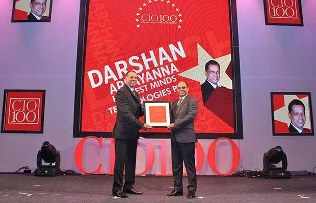 The Transformative 100: Darshan Appayanna, CIO at Happiest Minds Technologies receives the CIO100 Award for 2016