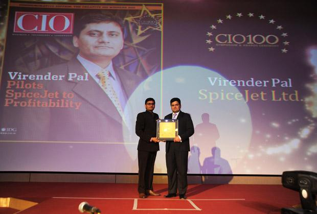 The Creative 100: Virender Pal, CTO of SpiceJet receives the CIO100 Award for 2011.