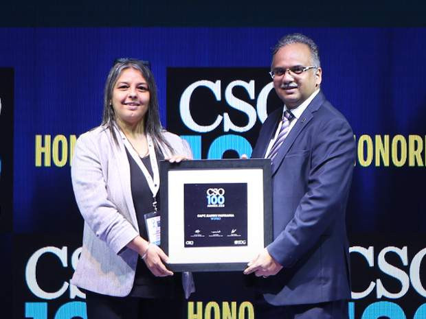Capt Kannu Pathania, Global Head of Information Protection & Investigations, Wipro, receives the CSO100 Award for 2019