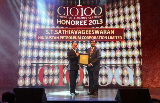 The Astute 100: S T Sathiavageeswaran, Executive director - IS of Hindustan Petroleum receives the CIO100 Award for 2013