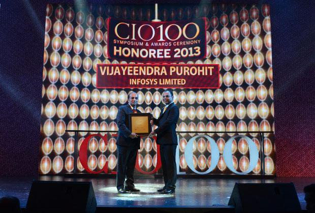 The Astute 100: Vijayeendra Purohit, AVP Corporate Networking of Infosys receives the CIO100 Award for 2013