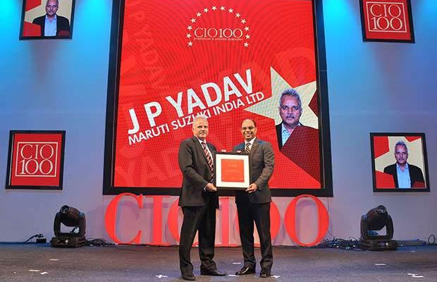 The Transformative 100: J P Yadav, SVP-IT at Maruti Suzuki India receives the CIO100 Award for 2016