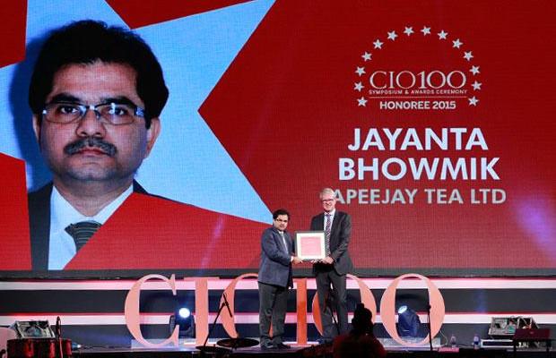 The Versatile 100: Jayanta Bhowmik, Group CTO, Apeejay Surrendra Group receives the CIO100 Award for 2015