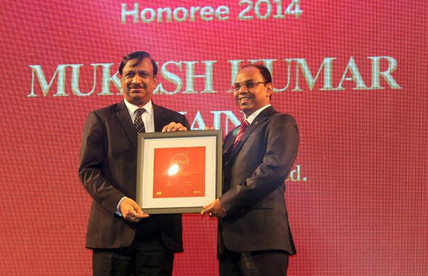 The Dynamic 100: Mukesh Kumar Jain, Group CIO of Reliance Capital receives the CIO100 Award for 2014