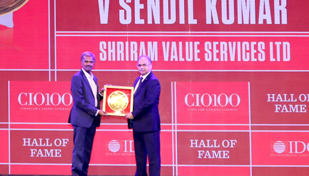 Hall of Fame: Sendil Kumar, VP – IT, Shriram Value Services receives the CIO100 Special Award for 2019