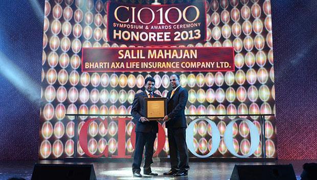 The Astute 100: Salil Mahajan, VP & Head IT, Bharti Axa Life Insurance receives the CIO100 Award for 2013