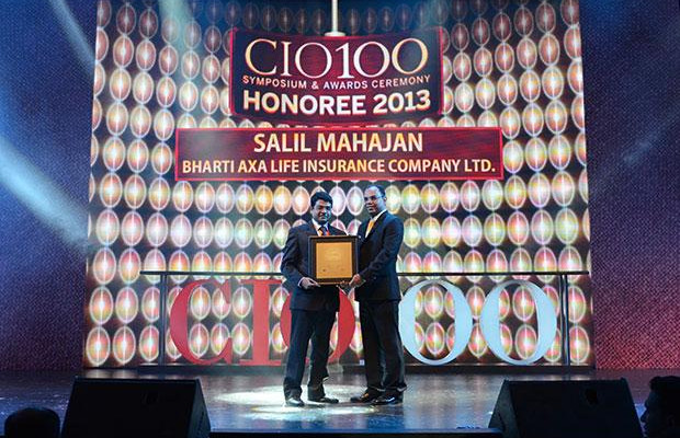 The Astute 100: Salil Mahajan, VP & Head IT, Bharti Axa Life Insurance receives the CIO100 Award for 2013