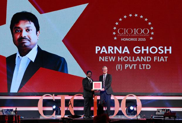 The Versatile 100: Parna Ghosh, Head ICT-India, Far East and Japan of CNH Industrial receives the CIO100 Award for 2015