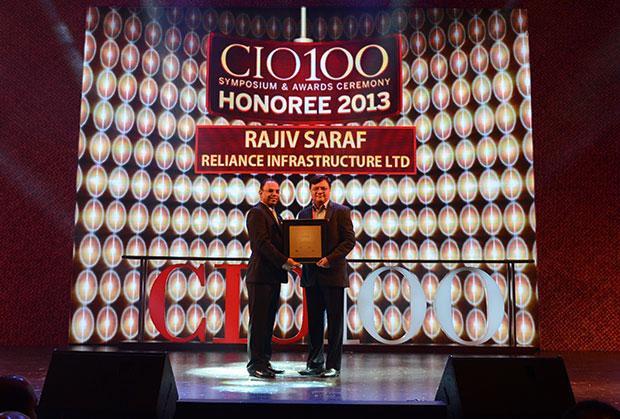 The Astute 100: Rajiv Sharf, Senior VP and CIO of Reliance Infrastructure receives the CIO100 Award for 2013