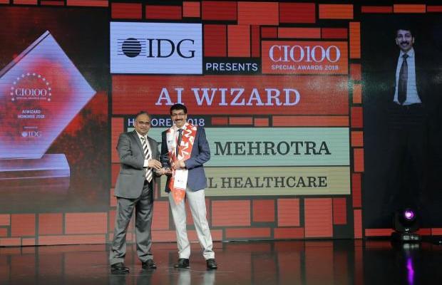 AI Wizard: Kapil Mehrotra, Head- IT, HCL Healthcare, receives the CIO100 special award for 2018