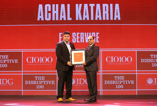 The Disruptive 100: Achal Kataria, Vice President and Global Head of Technology, EXL Service Holdings receives the CIO100 Award for 2019