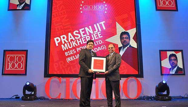 The Transformative 100: Prasenjit Mukherjee, Asst. Vice President, BSES Power (Reliance ADAG) receives the CIO100 Award for 2016