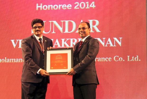 The Dynamic 100: Sundar Venkitakrishnan, EVP - IT & Ops, Cholamandalam MS General Insurance receives the CIO100 Award for 2014