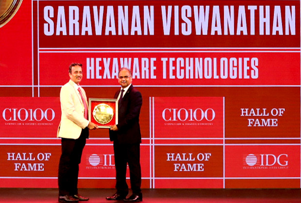 Hall of Fame: Saravanan Viswanathan, Head – Internal Systems & Technology, Hexaware Technologies receives the CIO100 Special Award for 2019