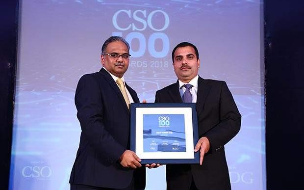Lalit Kumar Jha, DGM-IT of Gati-KWE receives CSO100 Award for the year 2018