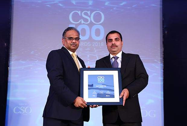 Lalit Kumar Jha, DGM-IT of Gati-KWE receives CSO100 Award for the year 2018