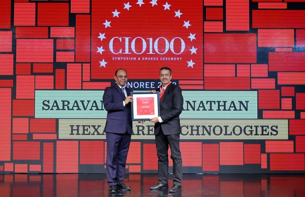 The Digital Architect: Saravanan Viswanathan, Head– Internal Systems & Technology, Hexaware Technologies, receives the CIO100 award for 2018