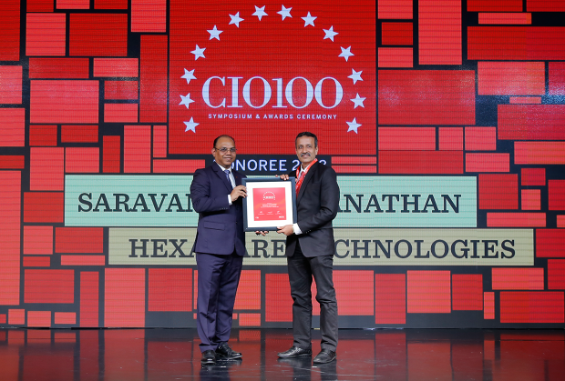 The Digital Architect: Saravanan Viswanathan, Head– Internal Systems & Technology, Hexaware Technologies, receives the CIO100 award for 2018