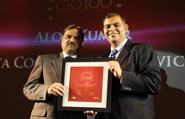 The Agile 100: Alok Kumar, VP & Global Head - Internal IT and Shared Services of Tata Consultancy Services receives the CIO100 Award for 2010