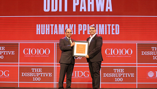 The Disruptive 100: Udit Pahwa, Head- IT, Huhtamaki PPL receives the CIO100 Award for 2019