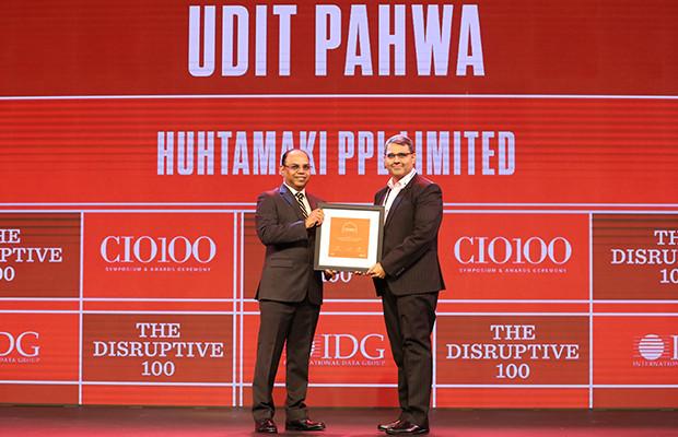 The Disruptive 100: Udit Pahwa, Head- IT, Huhtamaki PPL receives the CIO100 Award for 2019